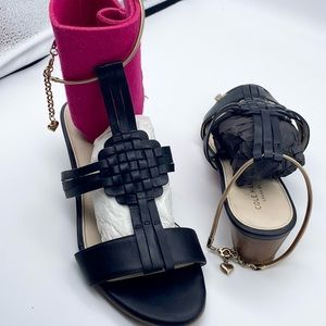 Cole HAAN Braided Leather Sandals